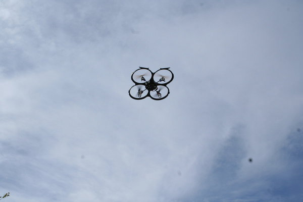 [Picture: Drone in the air]