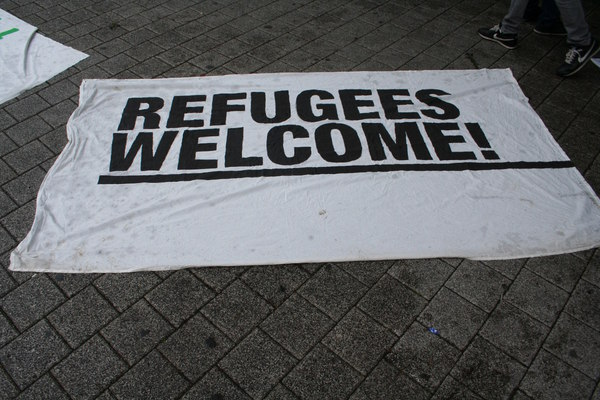 [Foto: Refugees welcome!]