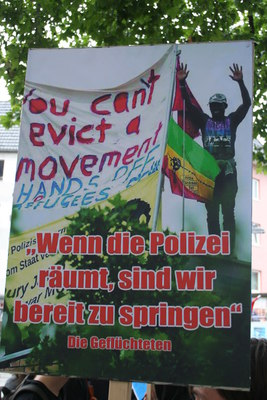 [Foto: You can't evict a movement]